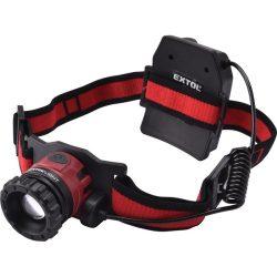 Led fejlámpa, 10 w, cree xpl, 450 lumen; tölthető akkuval, zoom + 3 funkció (teljes/ 1/4 fényerő, villogás), fehér+piros