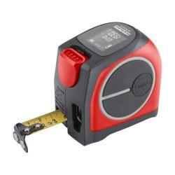 Lézeres távolságmérő mérőszalaggal, 40 m / 5 m×19 mm, lézer pontoság: 2 mm, fortum
