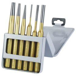 Lyukasztó és kiütő klt. 6db cv. hrc 52-58 ; 3 db lyukasztó, 3db kiütő, 3-8mm, 150mm