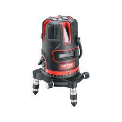 """Automatikus lézeres vízszintező, piros, 1h4v6d (1 horizontális+ 4 vertikális+ 6 pont) pontosság:0,2mm/1m, 5/8"""" menet"""