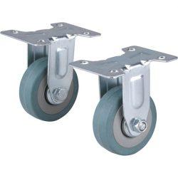 Készülékgörgő 2 db, fix, szürke gumi, 50mm, max. teherbírás: 27 kg/db