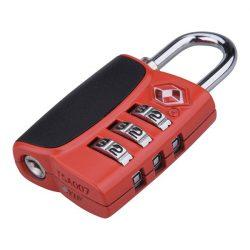 Bőröndlakat, tsa számzáras, 1000 db kód beállítható, 32×60×14mm, kengyelátmérő: 3,5 mm, részben gumirozott