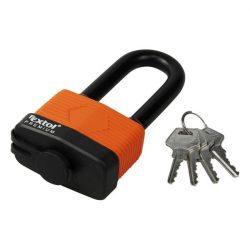 Lakat, laminált, vízálló, hosszított kengyel, 4db kulcs; 40mm, kengyelszárátmérő:8/12mm