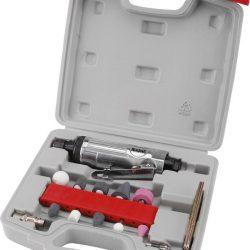Furatköszörű klt., 16 db, befogás: 6mm/3mm, köszörűfejek (6/3mm befogás), 22.000 1/min, 113l/min, 0,63mpa