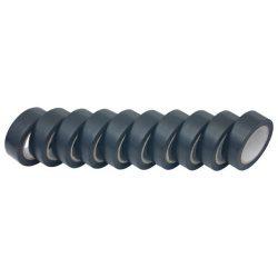 Szigetelő szalag, 10db-os, fekete; 19mm×10m