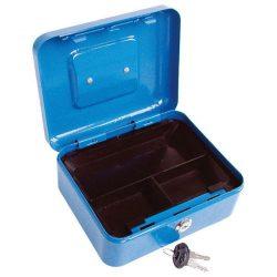 Pénzkazetta, 2db kulccsal, változó színekben, festett acél ; 200×160×90/0,8mm