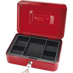 Pénzkazetta, 2db kulccsal, változó színekben, festett acél ; 250×180×90/0,8mm
