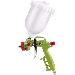 """Festékszóró pisztoly légkompresszorhoz, 700ml műanyag tartály, 1,5mm szórónyílás, 190l/perc, 4 bar, 1/4"""" gyorscsatlakozó"""