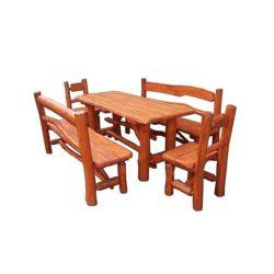 Rönk - Csapozott asztalgarnitúra - mahagóni