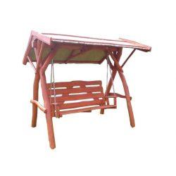 Rönk - Hintaágy nádtetővel - mahagóni