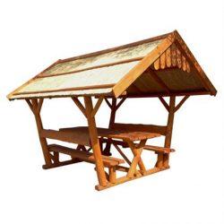 Rönk - Pavilon 2 x 3 m nádtetős - mahagóni