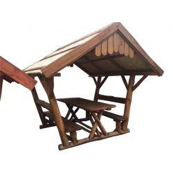 Rönk - Pavilon 2 x 3 m nádtetős - tölgy