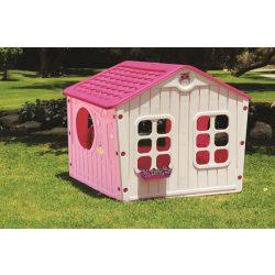 Straplast falusi játszóház, rózsaszín
