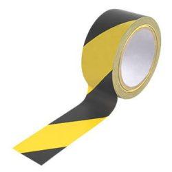 Kordon ragasztószalag (jelölőszalag) 48mmX33m sárga/fekete 36db/karton