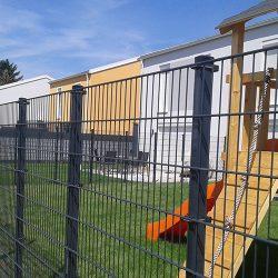 2D táblás kerítés 6-5-6 mm, szürke - többféle méretben