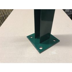 Ledűbelezhető talp 60X40-es oszlophoz, RAL6005 (zöld)