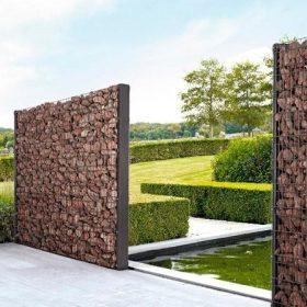 Egésztáblás gabion kerítés