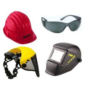 Védősisakok, védőszemüvegek