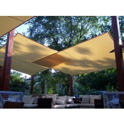 Extra erős, szőtt napvitorla - négyszög alakú - 5m x 5m