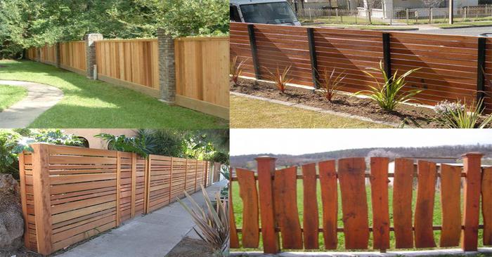Fa kerítésrendszerek