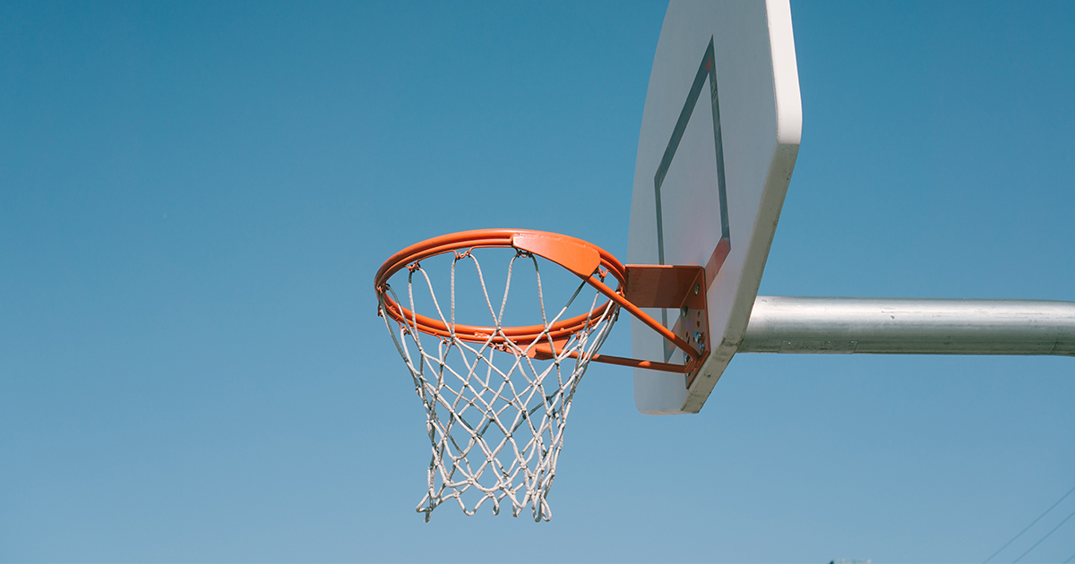 Kosárlabda pálya a kertben